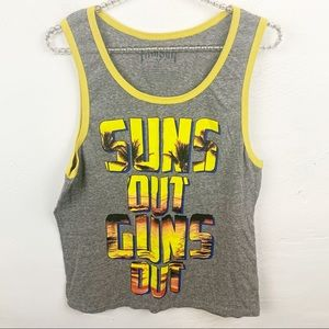 Fifth Sun l Suns Out Guns Out Mens Graphic Tank